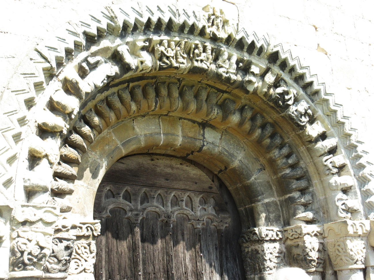 13th Century porch at Heaulaugh Church