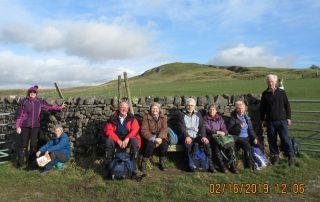 Walkers on the Gargrave Circular walk