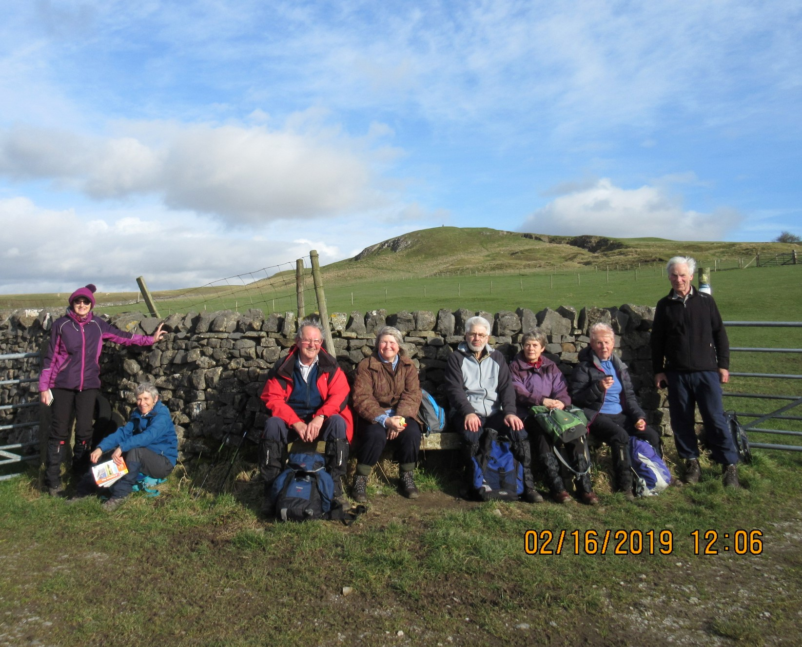Walkers on the Gargrave Circular walk