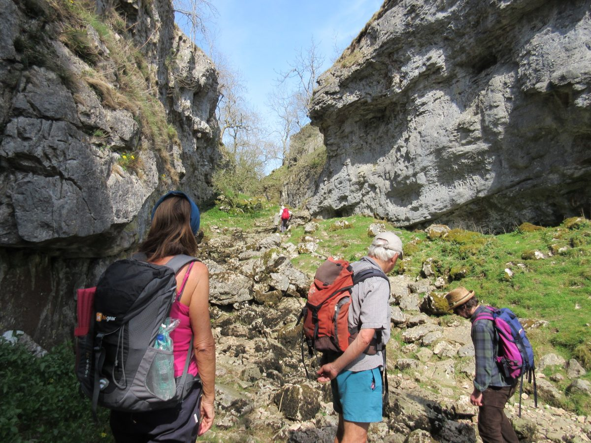 Our walkers in Trollers Gill