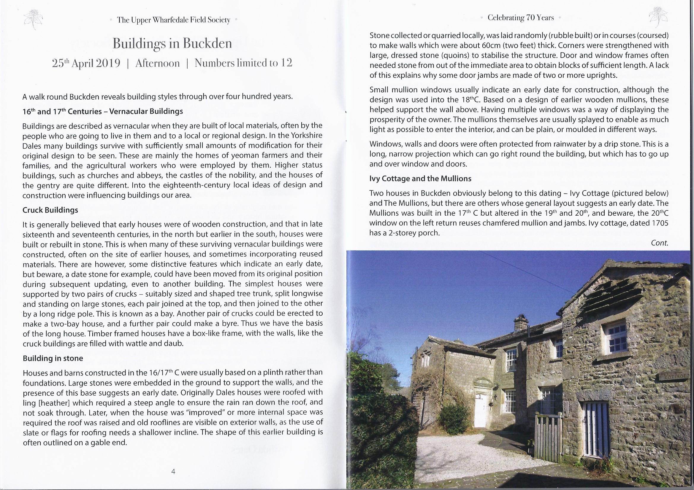 Buildings in Buckden