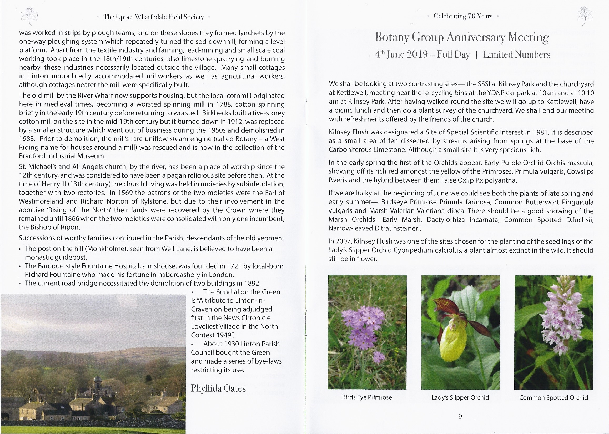 Botany Group Anniversary Meeting